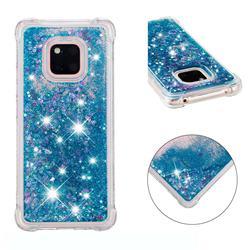 Dynamic Liquid Glitter Sand Quicksand TPU Case for Huawei Mate 20 Pro - Blue Love Heart