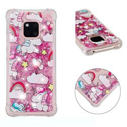 Angel Pony Dynamic Liquid Glitter Sand Quicksand Star TPU Case for Huawei Mate 20 Pro
