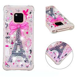 Mirror and Tower Dynamic Liquid Glitter Sand Quicksand Star TPU Case for Huawei Mate 20 Pro