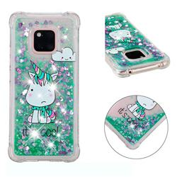 Tiny Unicorn Dynamic Liquid Glitter Sand Quicksand Star TPU Case for Huawei Mate 20 Pro