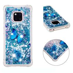 Flower Butterfly Dynamic Liquid Glitter Sand Quicksand Star TPU Case for Huawei Mate 20 Pro