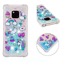 Fashion Unicorn Dynamic Liquid Glitter Sand Quicksand Star TPU Case for Huawei Mate 20 Pro