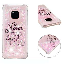 Never Stop Dreaming Dynamic Liquid Glitter Sand Quicksand Star TPU Case for Huawei Mate 20 Pro