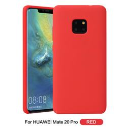 Howmak Slim Liquid Silicone Rubber Shockproof Phone Case Cover for Huawei Mate 20 Pro - Red