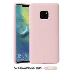Howmak Slim Liquid Silicone Rubber Shockproof Phone Case Cover for Huawei Mate 20 Pro - Pink