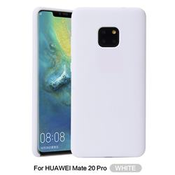 Howmak Slim Liquid Silicone Rubber Shockproof Phone Case Cover for Huawei Mate 20 Pro - White