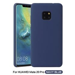 Howmak Slim Liquid Silicone Rubber Shockproof Phone Case Cover for Huawei Mate 20 Pro - Midnight Blue