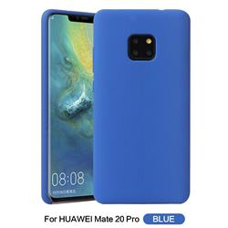 Howmak Slim Liquid Silicone Rubber Shockproof Phone Case Cover for Huawei Mate 20 Pro - Sky Blue