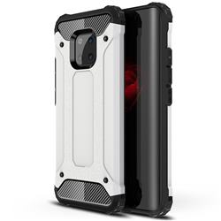 King Kong Armor Premium Shockproof Dual Layer Rugged Hard Cover for Huawei Mate 20 Pro - White
