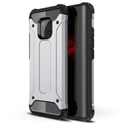 King Kong Armor Premium Shockproof Dual Layer Rugged Hard Cover for Huawei Mate 20 Pro - Technology Silver