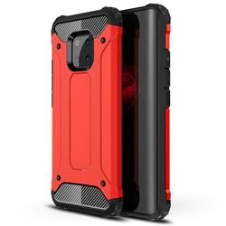 King Kong Armor Premium Shockproof Dual Layer Rugged Hard Cover for Huawei Mate 20 Pro - Big Red