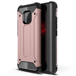 King Kong Armor Premium Shockproof Dual Layer Rugged Hard Cover for Huawei Mate 20 Pro - Rose Gold