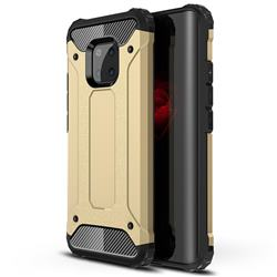 King Kong Armor Premium Shockproof Dual Layer Rugged Hard Cover for Huawei Mate 20 Pro - Champagne Gold