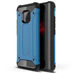 King Kong Armor Premium Shockproof Dual Layer Rugged Hard Cover for Huawei Mate 20 Pro - Sky Blue