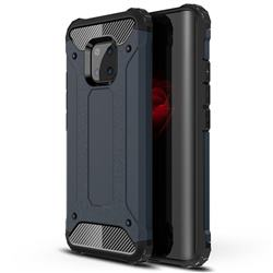 King Kong Armor Premium Shockproof Dual Layer Rugged Hard Cover for Huawei Mate 20 Pro - Navy