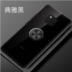 Anti-fall Invisible Press Bounce Ring Holder Phone Cover for Huawei Mate 20 Pro - Elegant Black
