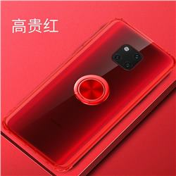Anti-fall Invisible Press Bounce Ring Holder Phone Cover for Huawei Mate 20 Pro - Noble Red
