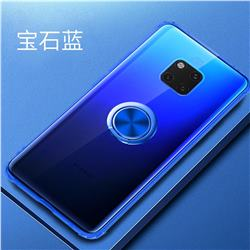 Anti-fall Invisible Press Bounce Ring Holder Phone Cover for Huawei Mate 20 Pro - Sapphire Blue