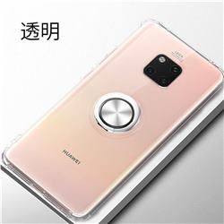 Anti-fall Invisible Press Bounce Ring Holder Phone Cover for Huawei Mate 20 Pro - Transparent