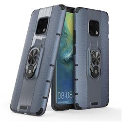 Alita Battle Angel Armor Metal Ring Grip Shockproof Dual Layer Rugged Hard Cover for Huawei Mate 20 Pro - Blue