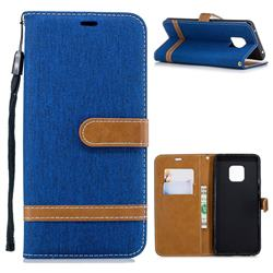 Jeans Cowboy Denim Leather Wallet Case for Huawei Mate 20 Pro - Sapphire