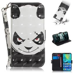 Angry Bear 3D Painted Leather Wallet Phone Case for Huawei Mate 20 Pro