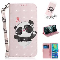 Heart Cat 3D Painted Leather Wallet Phone Case for Huawei Mate 20 Pro