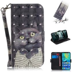 Cat Embrace 3D Painted Leather Wallet Phone Case for Huawei Mate 20 Pro