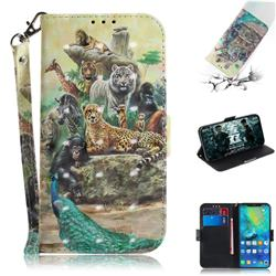 Beast Zoo 3D Painted Leather Wallet Phone Case for Huawei Mate 20 Pro