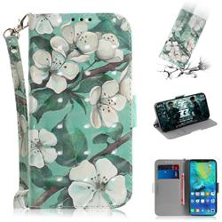 Watercolor Flower 3D Painted Leather Wallet Phone Case for Huawei Mate 20 Pro