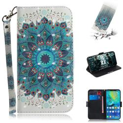 Peacock Mandala 3D Painted Leather Wallet Phone Case for Huawei Mate 20 Pro
