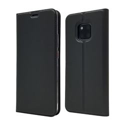 Ultra Slim Card Magnetic Automatic Suction Leather Wallet Case for Huawei Mate 20 Pro - Star Grey