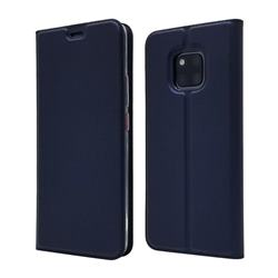 Ultra Slim Card Magnetic Automatic Suction Leather Wallet Case for Huawei Mate 20 Pro - Royal Blue