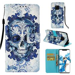 Cloud Kito 3D Painted Leather Wallet Case for Huawei Mate 20 Pro