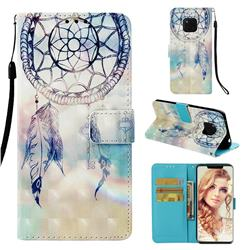 Fantasy Campanula 3D Painted Leather Wallet Case for Huawei Mate 20 Pro