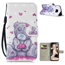 Love Panda 3D Painted Leather Wallet Phone Case for Huawei Mate 20 Pro