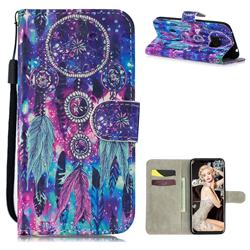 Star Wind Chimes 3D Painted Leather Wallet Phone Case for Huawei Mate 20 Pro