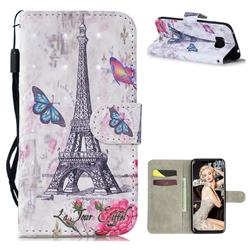 Paris Tower 3D Painted Leather Wallet Phone Case for Huawei Mate 20 Pro