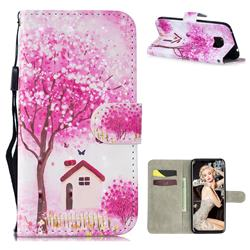 Tree House 3D Painted Leather Wallet Phone Case for Huawei Mate 20 Pro