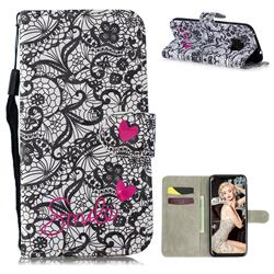 Lace Flower 3D Painted Leather Wallet Phone Case for Huawei Mate 20 Pro
