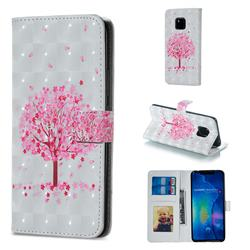 Sakura Flower Tree 3D Painted Leather Phone Wallet Case for Huawei Mate 20 Pro