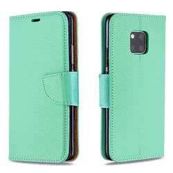 Classic Luxury Litchi Leather Phone Wallet Case for Huawei Mate 20 Pro - Green