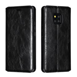 Retro Slim Magnetic Crazy Horse PU Leather Wallet Case for Huawei Mate 20 Pro - Black
