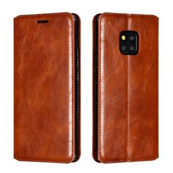 Retro Slim Magnetic Crazy Horse PU Leather Wallet Case for Huawei Mate 20 Pro - Brown