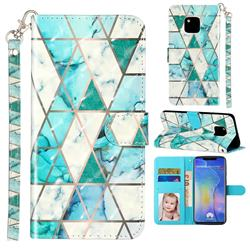 Stitching Marble 3D Leather Phone Holster Wallet Case for Huawei Mate 20 Pro