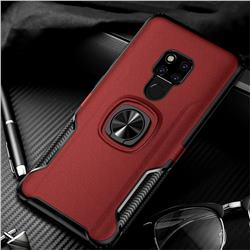 Knight Armor Anti Drop PC + Silicone Invisible Ring Holder Phone Cover for Huawei Mate 20 X - Red