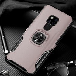 Knight Armor Anti Drop PC + Silicone Invisible Ring Holder Phone Cover for Huawei Mate 20 X - Rose Gold