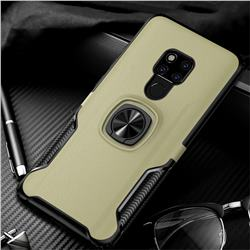 Knight Armor Anti Drop PC + Silicone Invisible Ring Holder Phone Cover for Huawei Mate 20 X - Champagne