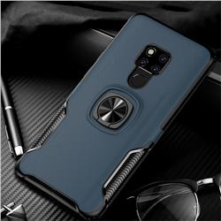 Knight Armor Anti Drop PC + Silicone Invisible Ring Holder Phone Cover for Huawei Mate 20 X - Sapphire