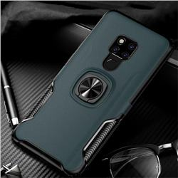 Knight Armor Anti Drop PC + Silicone Invisible Ring Holder Phone Cover for Huawei Mate 20 X - Navy